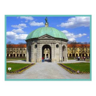 Cartão Postal Jardim de Munich (Hofgarten)