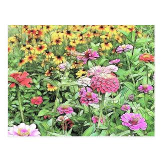 Cartão Postal Jardim do verão
