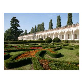 Cartão Postal Jardim, Kroměříž - república checa