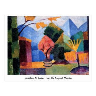 Cartão Postal Jardim no lago Thun daqui até agosto Macke