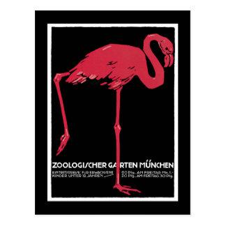 Cartão Postal Jardim zoológico de Munich, poster alemão das