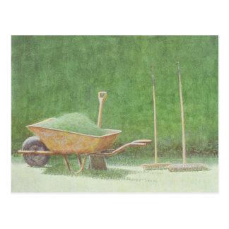 Cartão Postal Jardinagem ainda vida 1985