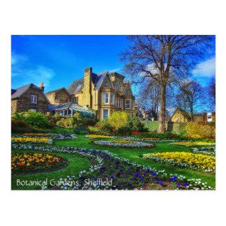 Cartão Postal Jardins botânicos, Sheffield
