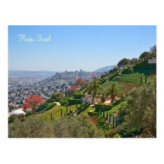 Cartão Postal Jardins de Bahá'í de Haifa, Israel