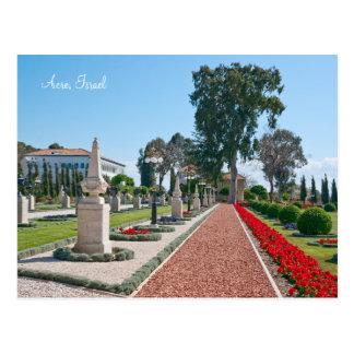 Cartão Postal Jardins do acre, Israel de Bahá'í