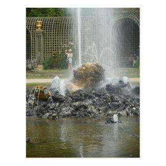 Cartão Postal Jardins do castelo de Versalhes