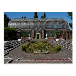 Cartão Postal Jardins do inverno do domínio de Auckland