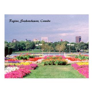 Cartão Postal Jardins legislativos pintados de Regina