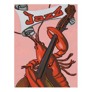 Cartão Postal Jazz da lagosta