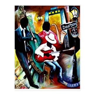 Cartão Postal Jazz em Bourbon St..jpg