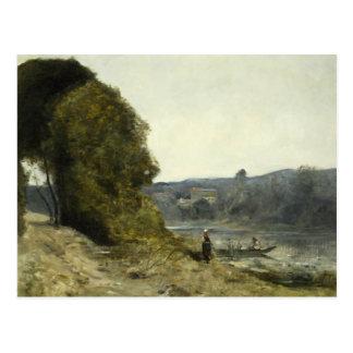 Cartão Postal Jean-Baptiste-Camilo Corot - a partida