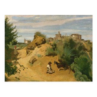 Cartão Postal Jean-Baptiste-Camilo Corot - Genzano