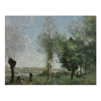 Cartão Postal Jean-Baptiste-Camilo Corot - lembrança de Coubron