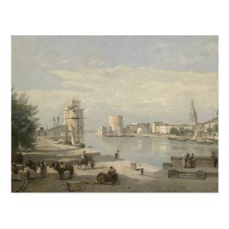 Cartão Postal Jean-Baptiste-Camilo Corot - o porto