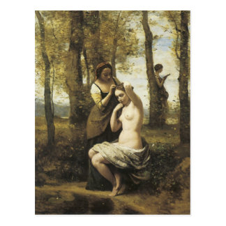Cartão Postal Jean-Baptiste-Camilo Corot o Toilette