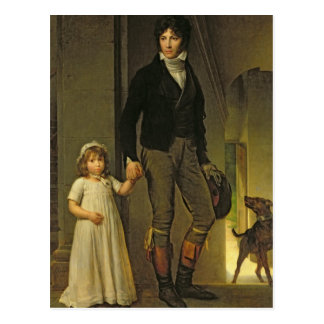 Cartão Postal Jean-Baptiste Isabey e sua filha