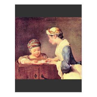 Cartão Postal Jean Chardin - professor novo