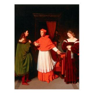 Cartão Postal Jean Ingres- o Betrothal de Raphael