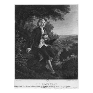Cartão Postal Jean-Jacques Rousseau que compor 'Emile