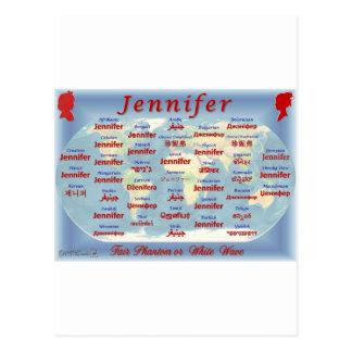Cartão Postal Jennifer