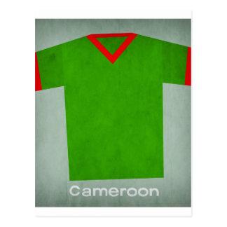 Cartão Postal Jérsei retro República dos Camarões do futebol