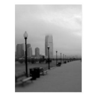 Cartão Postal Jersey City do parque estadual da liberdade