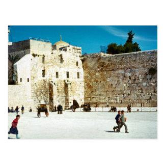 Cartão Postal Jerusalem, a parede ocidental