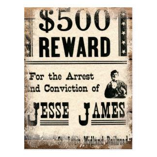 Cartão Postal Jesse querido James