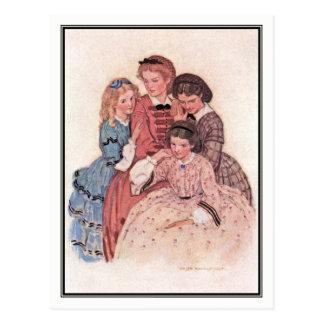 Cartão Postal Jessie Willcox Smith - megohm, Jo, Beth e Amy