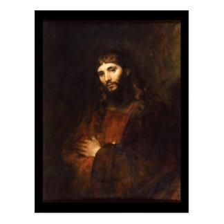 Cartão Postal Jesus Cristo com os braços cruzados