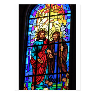 Cartão Postal Jesus Cristo minha janela de vitral do pastor