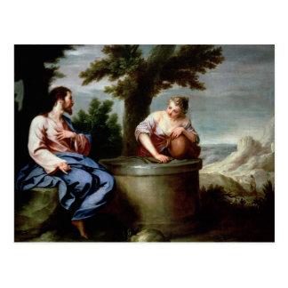 Cartão Postal Jesus e a mulher do samaritano