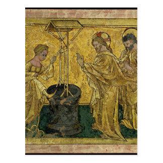 Cartão Postal Jesus e a mulher do samaritano no poço