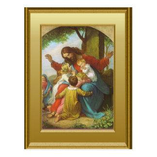 Cartão Postal Jesus e as crianças