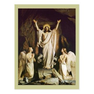 Cartão Postal Jesus na abertura do túmulo
