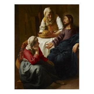 Cartão Postal Jesus na casa de Mary e de Martha