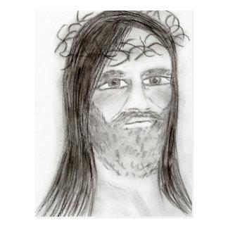 Cartão Postal Jesus no carvão vegetal
