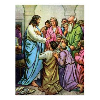 Cartão Postal Jesus que ensina um mandamento novo