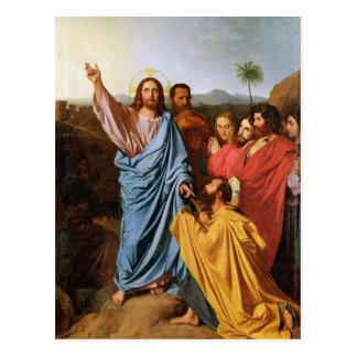 Cartão Postal Jesus que retorna as chaves a St Peter, 1820