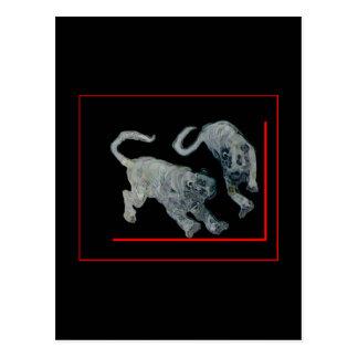 Cartão Postal jGibney 2002 vermelho do pensionista dos tigres do