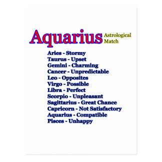 Cartão Postal jGibney astrológico do fósforo do Aquário O MUSEU