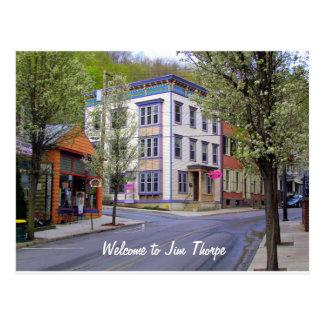Cartão Postal Jim do centro Thorpe, PA