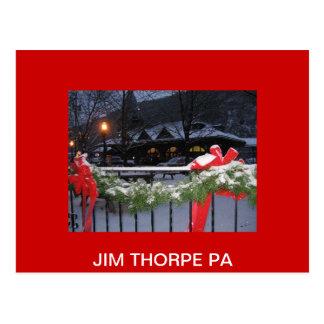 Cartão Postal JimThorpeStationLg, PA de THORPE de JIM