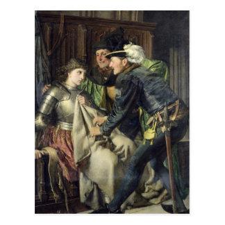 Cartão Postal Joana do arco insultado na prisão, 1866