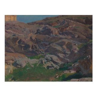 Cartão Postal Joaquin Sorolla - castelo de San Servando, Toledo