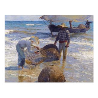 Cartão Postal Joaquin Sorolla - pescador Valencian