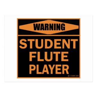 Cartão Postal Jogador de flauta do estudante