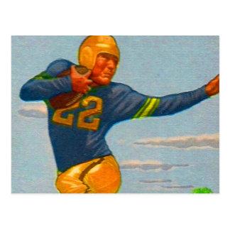 Cartão Postal Jogador de futebol 'Arm duro do vintage 40s do