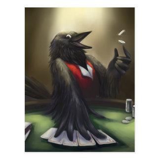 Cartão Postal Jogador de póquer