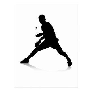 Cartão Postal Jogador de ténis de mesa